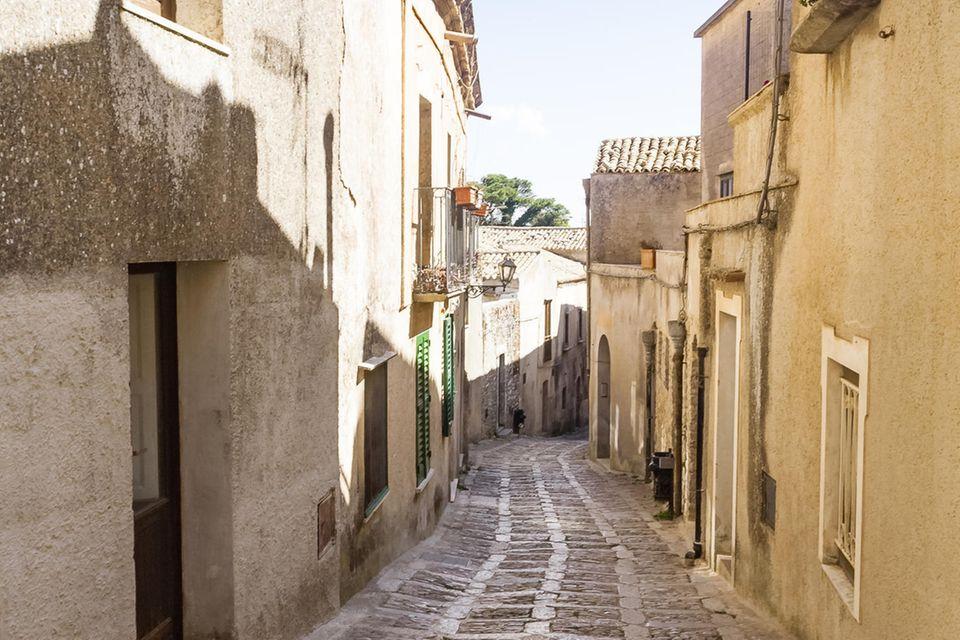 Straße in der Altstadt von Erice