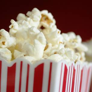 Nahaufnahme Popcorn