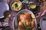 Safran-Hähnchen mit Süßkartoffel-Füllung