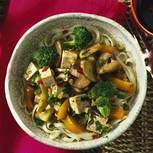 China-Nudeln mit Tofu