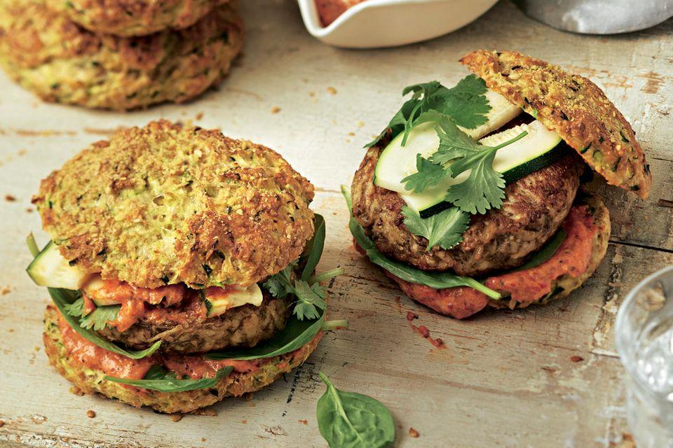 Vegetarische Burger: Zucchini-Burger