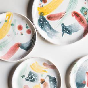 Keramik bemalen: bemalte Teller