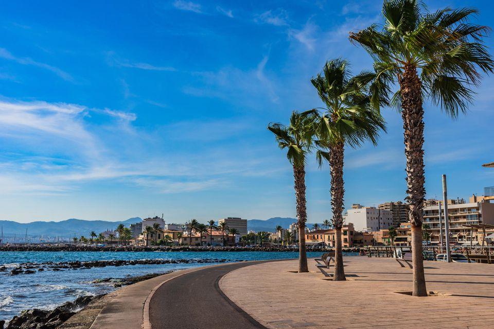 Strand von Portixol auf Mallorca