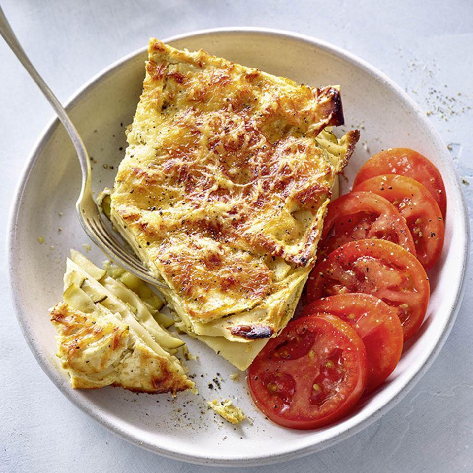 Zucchini-Lasagne mit Tomaten
