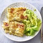 Zucchini-Lasagne mit Salat