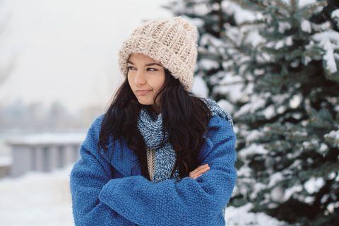 Horoskop: Eine beleidigte Frau im Winter