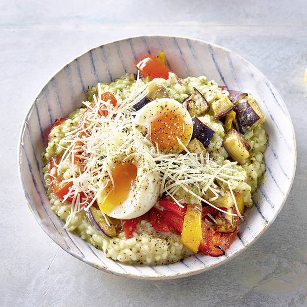 Risotto mit Pesto und Grillgemüse