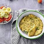 Risotto-Frittata mit Tomatensalat