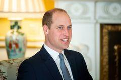 Prinz William lacht