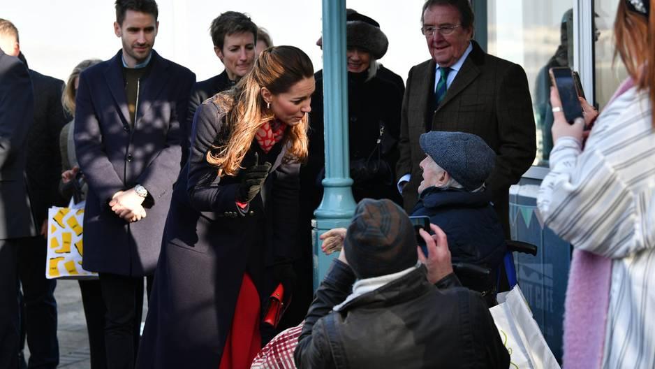 Herzogin Kate verzaubert 90-Jährigen
