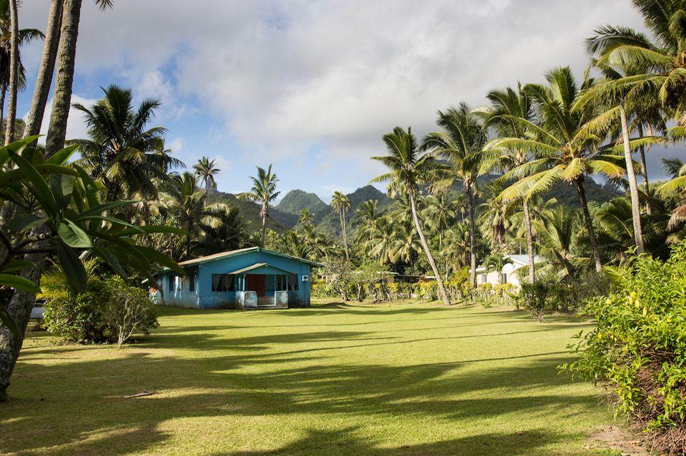 Cookinseln: Foto von einem typischen Haus auf der Insel