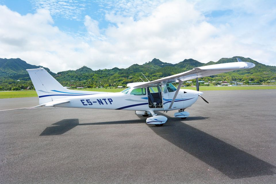 Gute Sicht Die winzige Maschine aus Aitutaki