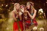 Hippie Frisuren: Haarbänder