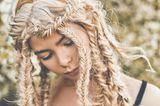Hippie Frisuren: Fischgrätenzopf
