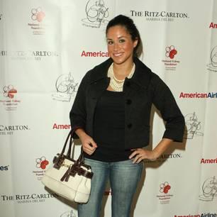 Meghan Markle: in Jeans mit Perlen