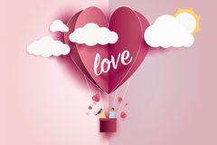 Horoskop: Vektorgrafik eines Herzchenballos mit der Aufschrift love