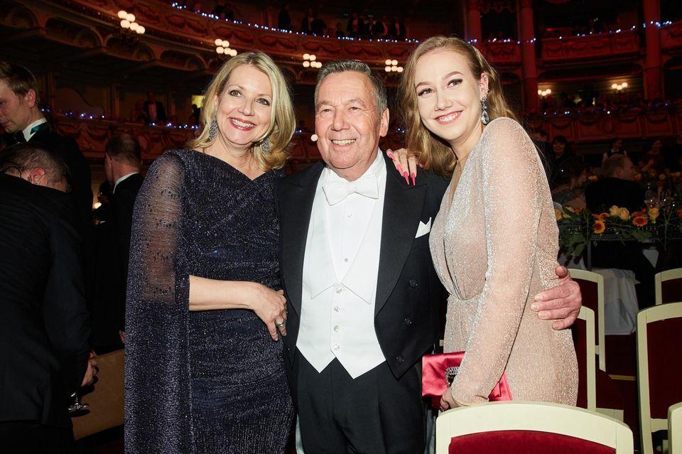 Roland Kaiser und Ehefrau Silvia und  Tochter Annalena