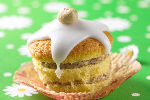 Gefüllte Nuss-Muffins