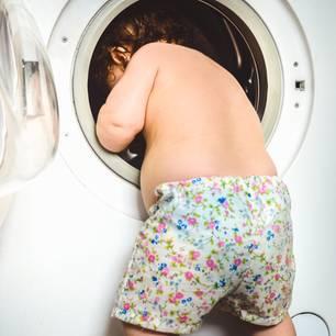 Baby in Waschmaschine: Vater erlebt Schock seines Lebens