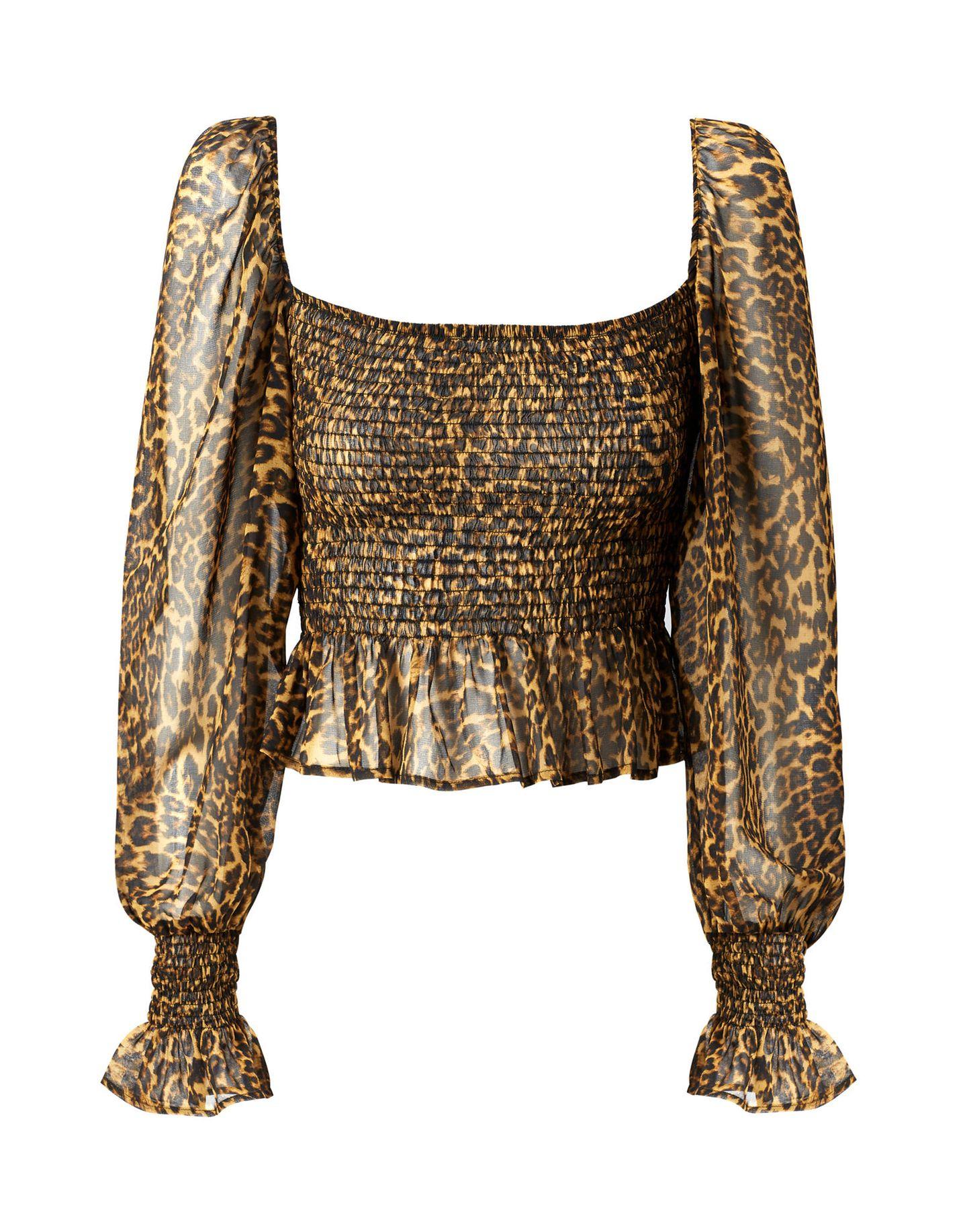 Promi-Looks: Leo-Print Bluse von Mango