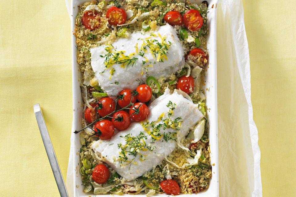 Schellfisch auf Gemüse-Couscous