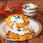 Kartoffelpuffer mit Pilzen und Quark