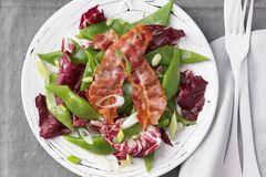 Schneidebohnen-Salat mit Bacon