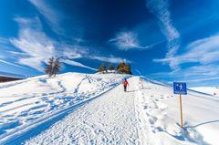 Wir spielen stille Piste: Wandern im Schnee