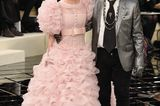Chanel-Looks: Lily-Rose Depp mit Karl Lagerfeld
