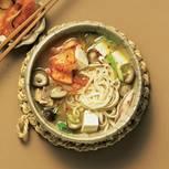 Ramen-Suppe mit Kimchi