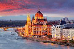 Budapest bei Sonnenuntergang