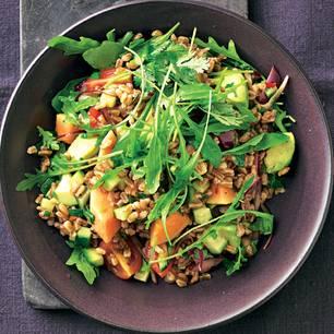 Dinkelreis-Salat mit Papaya