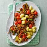 Gnocchi mit Veggie-Hacksoße