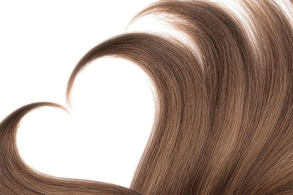 Haare in Herzform