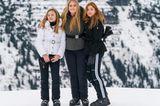 Royale Kinderfotos:  Prinzessin Ariane, Prinzessin Catharina-Amalia und Prinzessin Alexia im Schnee