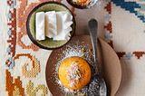 Süßkartoffelküchlein mit Sorbet