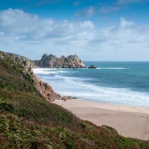 Strand an der Küste von Cornwall