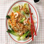 Wok-Gemüse mit Garnelen