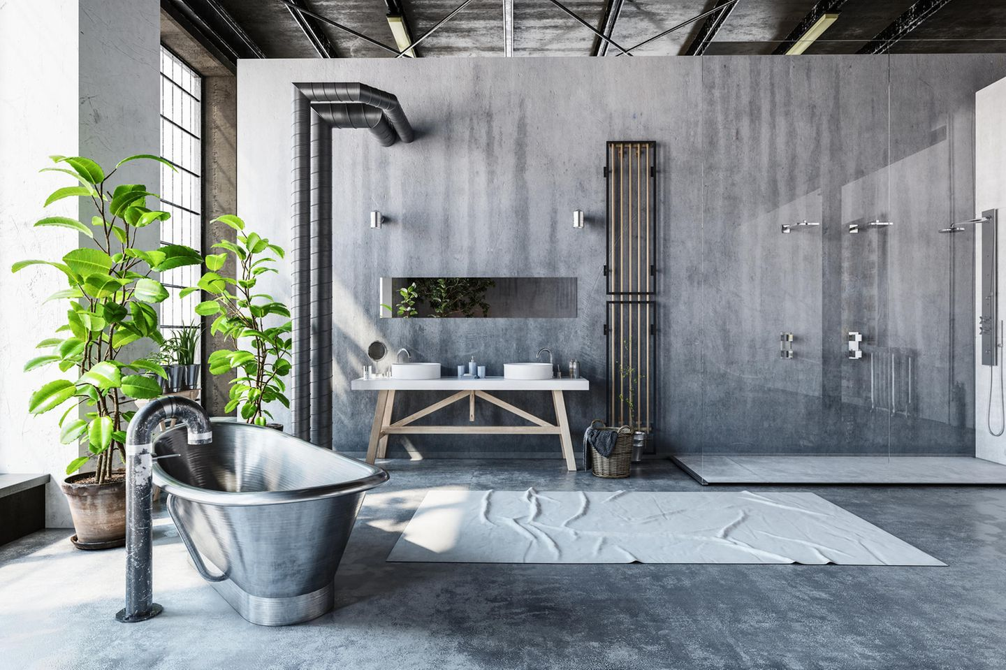 Bad-Trends: Bad im Industrial-Style