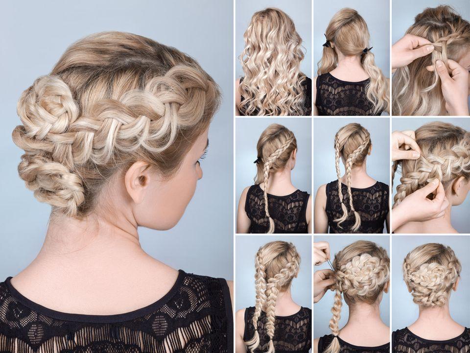 Kommunionsfrisuren: Hochgesteckte Haare