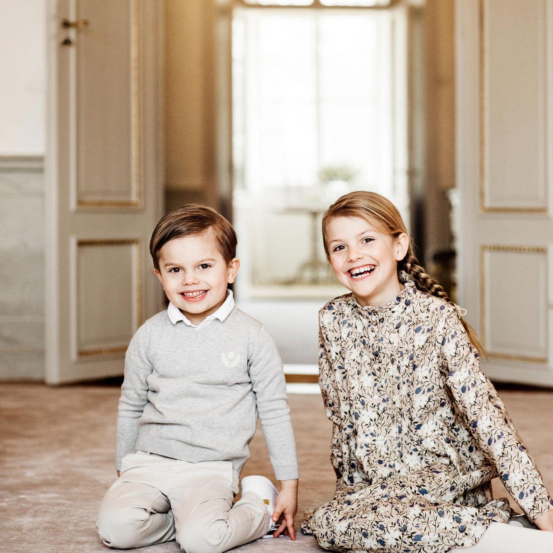 Royale Kinderfotos: Prinz Oscar mit Prinzessin Estelle