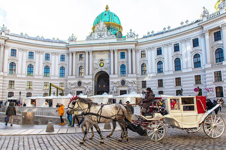 Traditionelle Kutsche in Wien