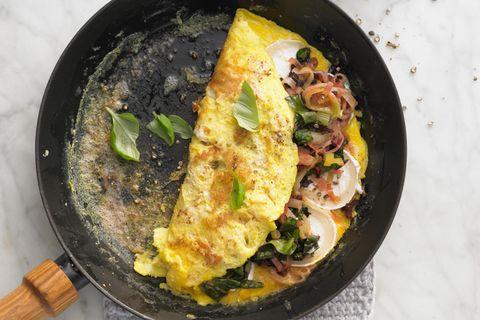 Omelett mit Mangold und Ziegenkäse