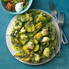 Blumenkohl-Tortilla mit Thunfisch-Salat