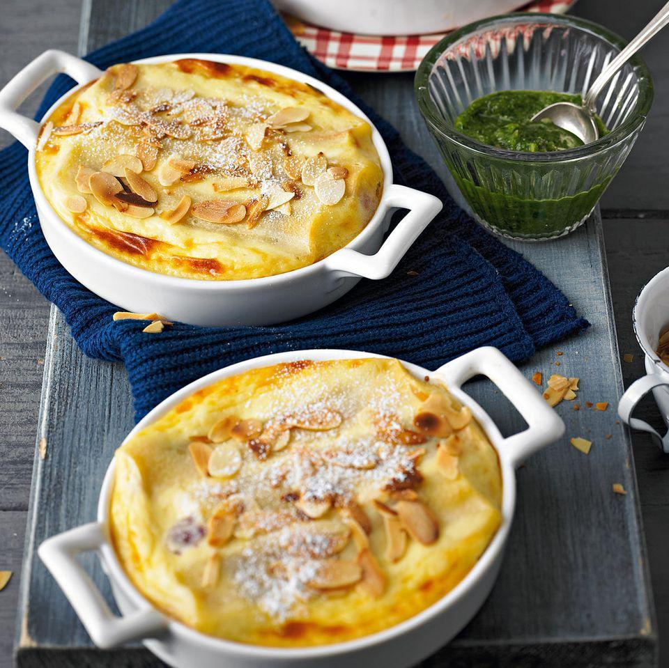 Cannelloni mit Basilikum-Pesto