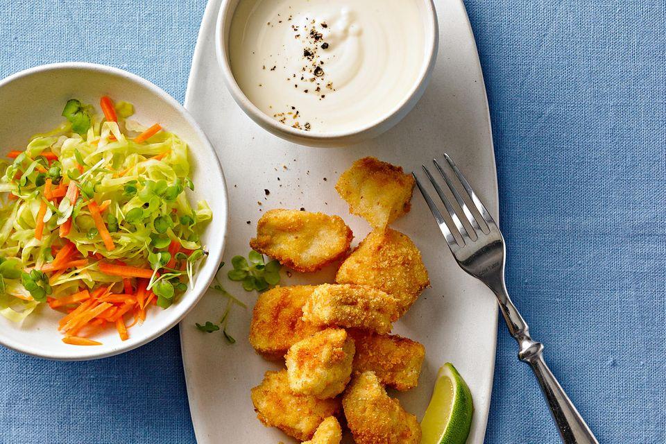 Fisch-Nuggets mit Sesam-Aioli