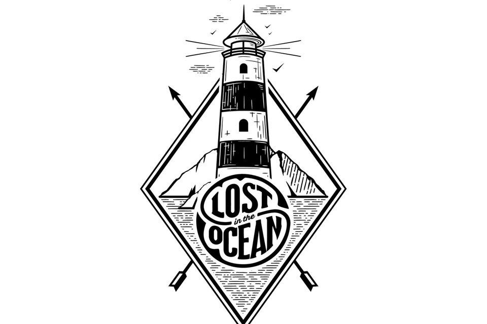 Leuchtturm-Tattoo - Vektografik vom Leuchtturm