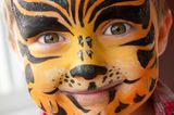 Kinder schminken: Vorlage für Tiger schminken