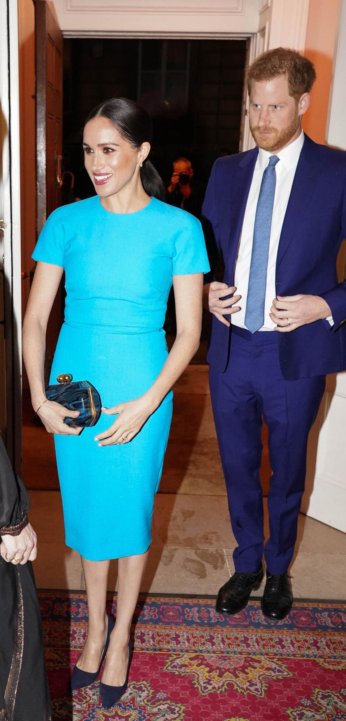 Meghan Markle: posiert mit Prinz Harrry