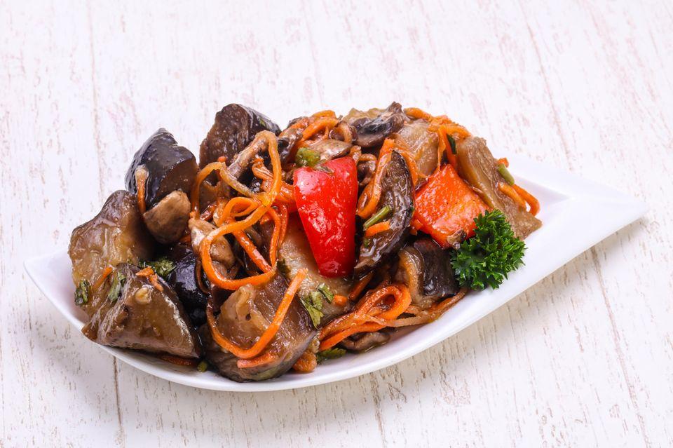 Gemüse in Schale